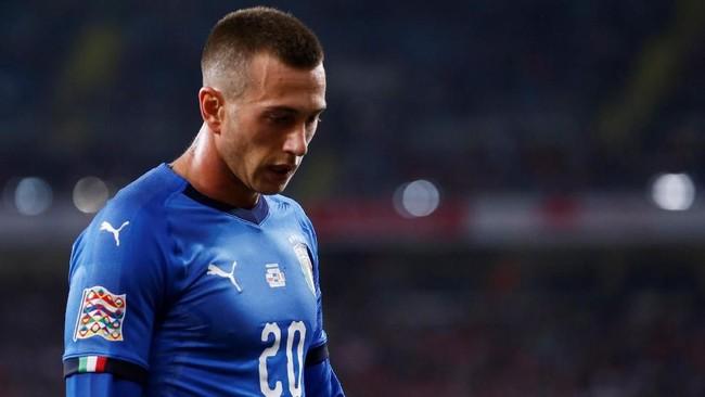 Winger Federico Bernardeschi menjadi salah satu dari tiga starter timnas Italia saat melawan Polandia yang bermain untuk Juventus selain Leonardo Bonucci dan Giorgio Chiellini. (REUTERS/Kacper Pempel)