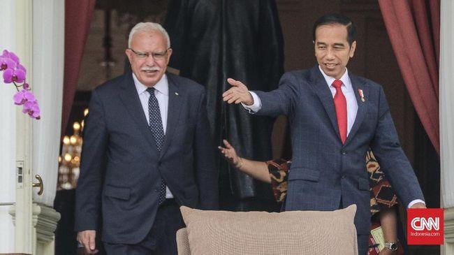 Bertemu Jokowi, Menlu Palestina Apresiasi Dukungan RI