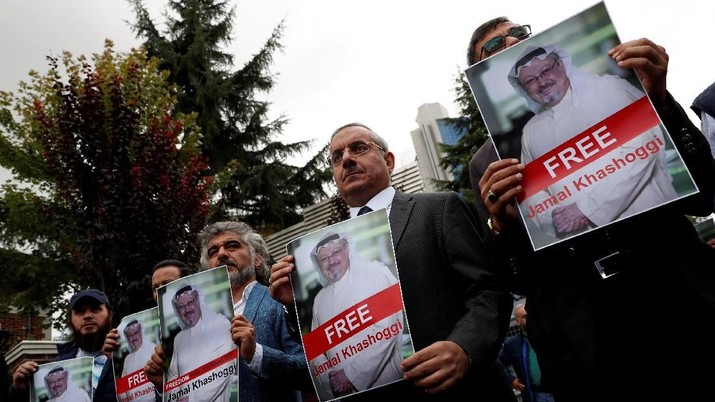 Khashoggi diketahui tewas pada 2 Oktober lalu di Konsulat Jenderal Arab Saudi di Istanbul, Turki