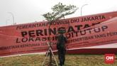 Keberanian Anies menghentikan mega proyek reklamasi Teluk Jakarta mendapat sambutan luas dari masyarakat, terutama dari para nelayan di pesisir Teluk Jakarta. (CNNIndonesia/Adhi Wicaksono)