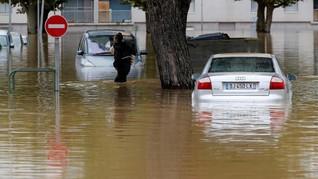 Hujan Deras di Spanyol Picu Banjir dan Telan Korban