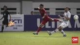 Andik Vermansah yang dimainkan di babak kedua gagal mengantar Timnas Indonesia menang atas Hong Kong. (CNNIndonesia/Safir Makki)