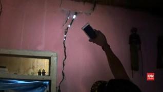 VIDEO: Tanah Bergerak di Tangerang, Tembok 17 Rumah Retak