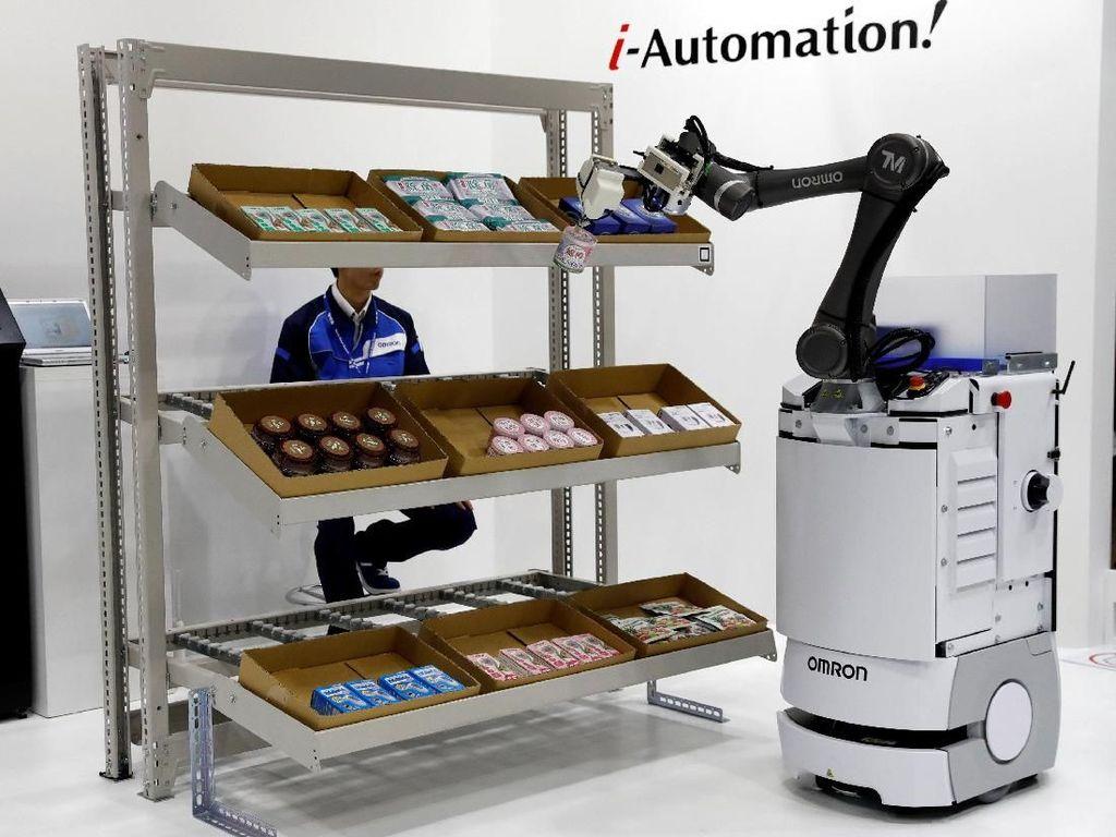 Selain mengadakan pameran robotik, World Robot Summit 2018 pun menyelenggarkan pula seminar robotik dengan pembicara para ahli top dunia. Kyung-Hoon/Reuters.