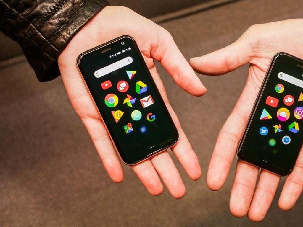 Kali ini mereka hadir kembali dengan ponsel mini yang juga disebut Palm. (Foto: CNET)