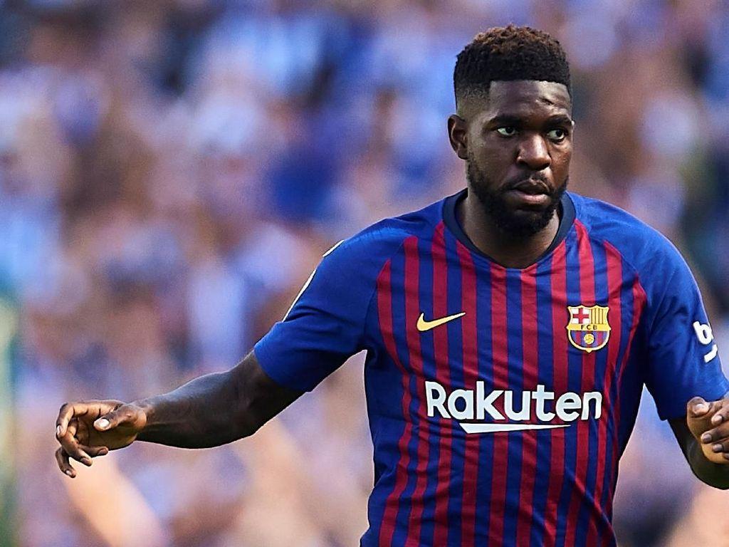Samuel Umtiti bisa juga menjadi solusi untuk membeli De Ligt dan Barcelona bakal melepas dengan bayaran hampir 40 juta euro. (Foto: Aitor Alcalde/Getty Images)