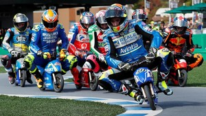 FOTO: Duel Balap Motor Mini Jelang MotoGP Jepang