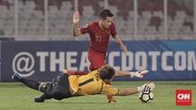 Egy dan Saddil Tabrakan di Latihan Timnas Indonesia U-19