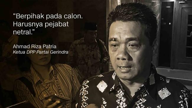 Ketua DPP Partai GerindraAhmad Riza Patria.