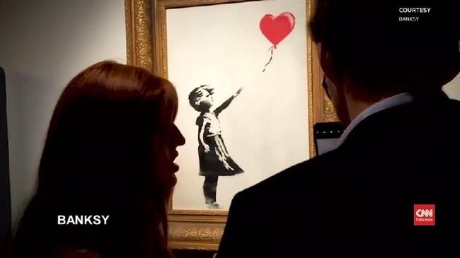 VIDEO: Penghancuran Karya Banksy Tak Sesuai Rencana