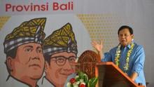 Prabowo Pertanyakan Kepemilikan Hotel di depan Emak-Emak Bali