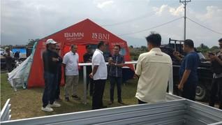 BNI & Mandiri Percepat Pembangunan Hunian Sementara di Sigi