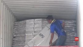 VIDEO: Jombang Terima Distribusi Kotak Suara dari KPU Pusat