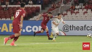 Timnas Indonesia U-19 Tertinggal 1-4 dari Qatar di Babak I