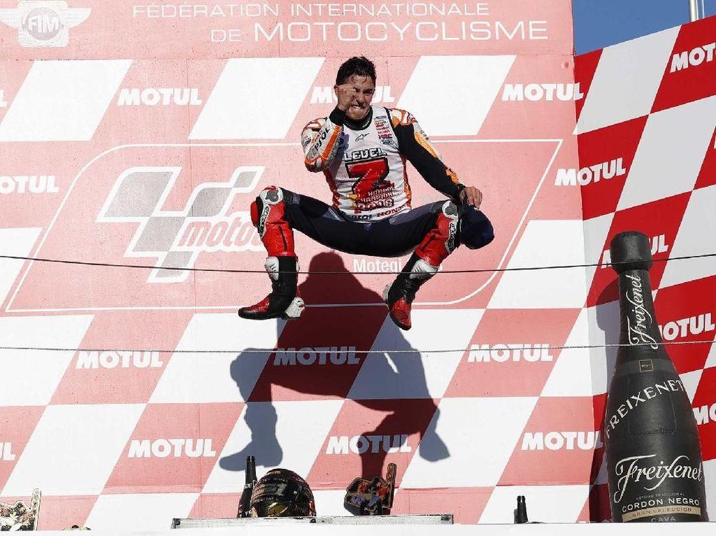 Rider Honda Repsol menjadi juara setelah mengantongi 296 poin. Reuters/Toru Hanai.