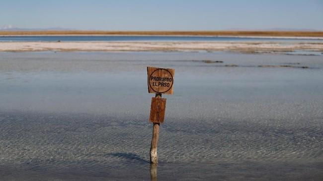 Awal tahun 2018, dua perusahaan produsen litium--Albemarle dan SQM--mengumumkan kesepakatan barunya dengan Pemerintah Chile untuk meningkatkan produksi dari Atacama, gurun terkering di dunia. (REUTERS/Ivan Alvarado)