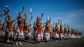Setiap tahunnya, Gandrung Sewu selalu ditunggu dan mendapat animo tinggi dari wisatawan. (Juni Kriswanto / AFP)