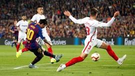 Messi Cedera, Barcelona Kalahkan Sevilla 4-2 di La Liga