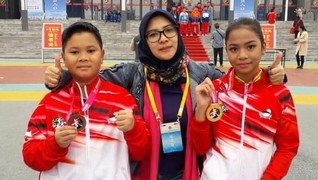 Atlet Wushu Indonesia Raih Emas di Festival Shaolin China