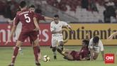 ToddRivaldo Albert Ferre dimasukkan Indra Sjafri di menit ke-55 menggantikan Rafli Mursalim yang tampil kurang greget di lini depan. (CNN Indonesia/Hesti Rika)