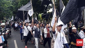 Protes Pembakaran Bendera, Ratusan Warga Bogor Turun ke Jalan