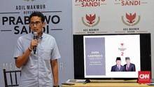 Prabowo Ditantang Salat, Sandi Sebut Pemilu Soal Ekonomi