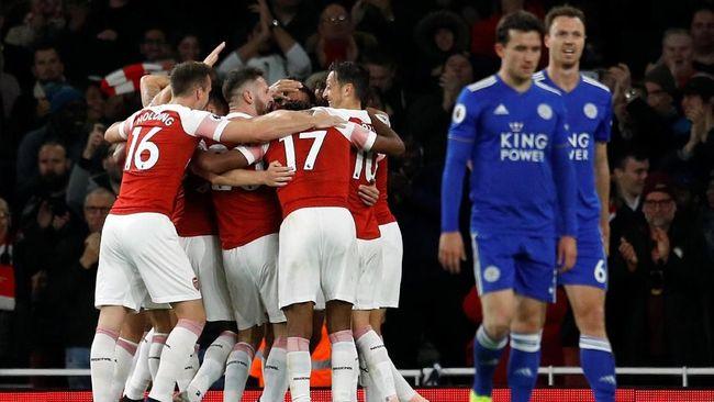 Sempat Tertinggal, Arsenal Menang 3-1 Atas Leicester