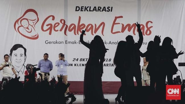 'Gerakan Emas' ini merupakan rangkaian dari 'Revolusi Putih' yang menjadi salah satu program pasangan Prabowo-Sandiaga. (CNN Indonesia/Adhi Wicaksono)