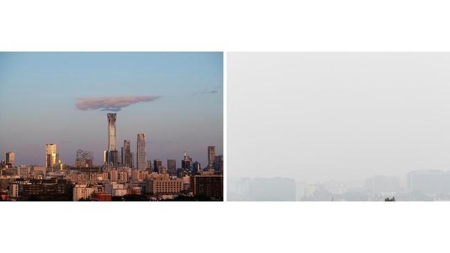 Dua dekade dirundung polusi parah, Beijing sampai-sampai dijuluki kota kiamat asap. (AFP Photo/Nicolas Asfouri)