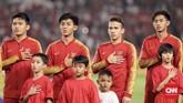 Timnas Indonesia U-19 menjalani laga wajib menang ketika menghadapi timnas Uni Emirat Arab dalam laga terakhir fase grup Piala Asia U-19 2018 demi tiket ke babak perempat final. (CNN Indonesia/ Hesti Rika)