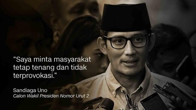 Calon Wakil Presiden nomor urut 02 Sandiaga Uno.