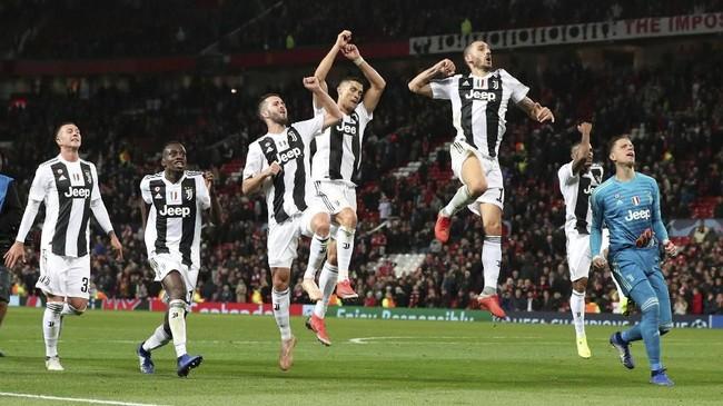 Kemenangan atas Manchester United membuat Juventus mengukuhkan posisi di puncak klasemen Grup H Liga Champions 2018/2019. Juventus berpoin sembilan, sedangkan Man United masih di peringkat kedua dengan poin empat. (REUTERS/Hannah McKay)