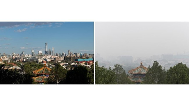 Meski siklus ini terus berputar, sejumlah pengamat menganggap China tak akan mencapai titik terendah karena pemerintah sudah mengetahui cara terbaik untuk menanggulangi polusi. (AFP Photo/Nicolas Asfouri)