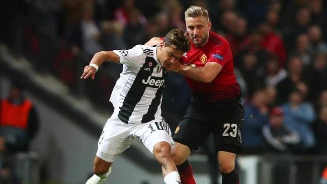 Manchester United dan Juventus berhadapan pada laga penyisihan grup Liga Champions 2018/2019 di Stadion Old Trafford, Manchester, Selasa (23/10) waktu setempat. (REUTERS/Hannah McKay)