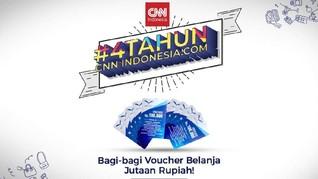 CNNIndonesia.com Bagi-bagi Voucher Jutaan Rupiah, Cek di Sini