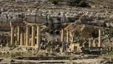 Cyrene merupakan bekas kota tua peninggalan dari era Yunani dan Romawi yang terletak di Shahhat, Libya. (REUTERS/Esam Omran Al-Fetori)
