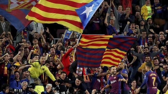 Barcelona kini menjadi pemuncak klasemen grup B dengan nilai sembilan dari tiga laga yang telah dijalani. Mereka berpeluang besar untuk memastikan tiket lolos di matchday keempat. (REUTERS/Albert Gea)