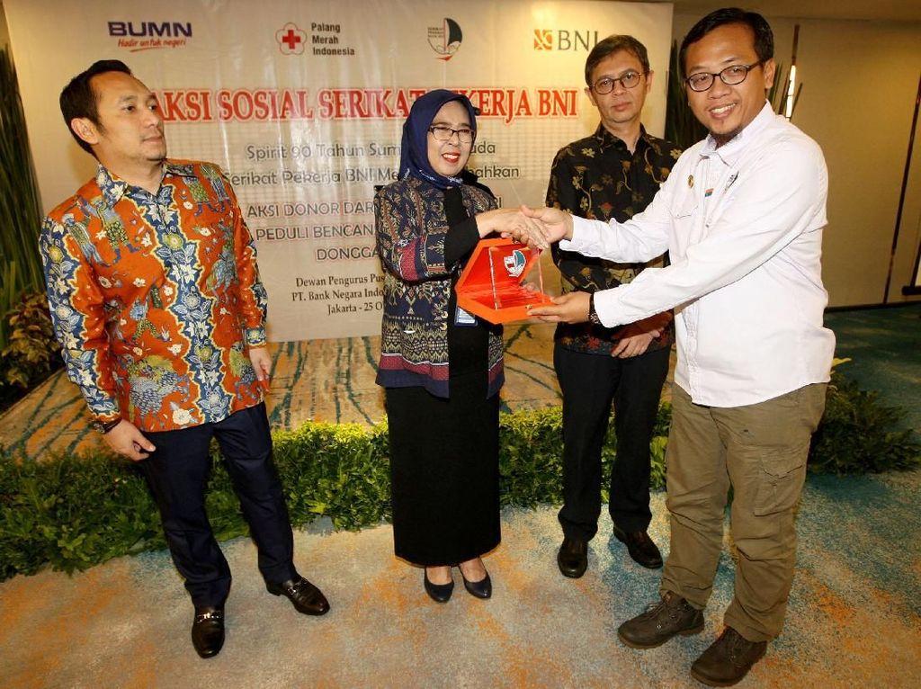 Aksi Donor Darah Untuk Negeri tersebut dalam rangka kepedulian terhadap bencana gempa bumi yang melanda Lombok, palu, Donggala dan Sigi.Foto: dok. SP BNI