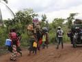 FOTO: Bentrokan Berdarah, Imigran Kongo Kabur dari Angola