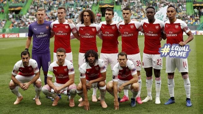Arsenal bertandang ke markas Sporting Lisbon, Estadio Jose Alvalade, dengan ambisi mempertahankan rekor sempurna di Grup E Liga Europa 2018/2019. (Action Images via Reuters/Peter Cziborra)