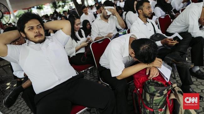 Peserta yang mengikuti tes ini adalah calon yang telah lolos dalam seleksi administrasi CPNS sejak 21 Oktober 2018. (CNNIndonesia/Adhi Wicaksono)