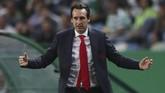 Kemenangan atas Sporting Lisbon membuat Arsenal sukses meraih 11 kemenangan beruntun di semua kompetisi di bawah asuhan Unai Emery. (Action Images via Reuters/Peter Cziborra)