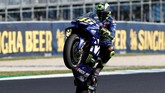Valentino Rossi tampil buruk di MotoGP 2018 lantaran motor Yamaha dianggap kurang kompetitif. (REUTERS/Brandon Malone)