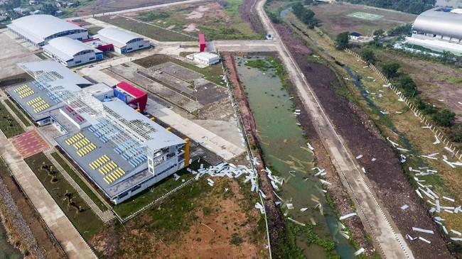 Nilai kerusakan Jakabaring Sport City (JSC) Palembang diperkirakan mencapai Rp20 miliar. (ANTARA FOTO/Nova Wahyudi/wsj).