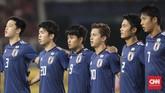 Timnas Jepang U-19 yang merupakan juara bertahan Piala Asia U-19 menjadi lawan bagi Saddil Ramdani dan kawan-kawan. (CNN Indonesia/ Hesti Rika)