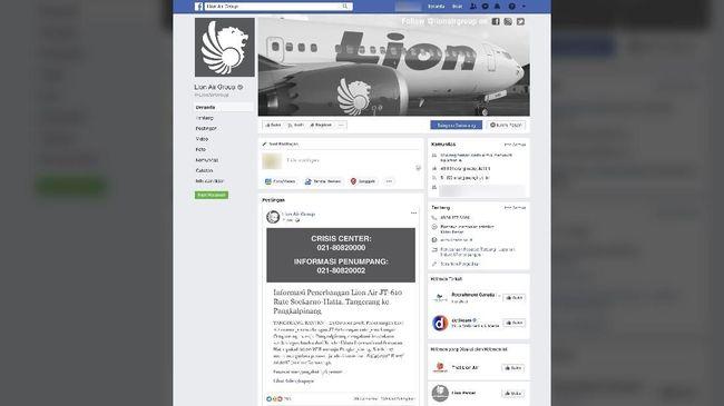 Berduka, Tampilan FB dan Situs Lion Air jadi Hitam Putih