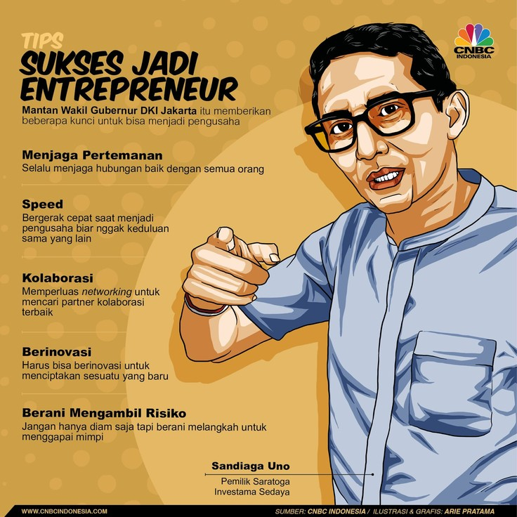 5 Tips Jitu Jadi Entrepreneur a La Sandiaga Uno