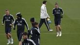Real Madrid akan berhadapan dengan Melilla, klub penghuni Segunda Division B atau kompetisi level ketiga dalam tingkatan sepak bola Spanyol, pada babak 32 besar Copa del Rey di Stadion Alvarez Claro, Rabu (31/10) waktu setempat. (REUTERS/Susana Vera)