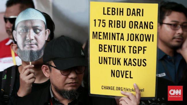 600 Hari Kasus Novel, Pegawai KPK Desak Jokowi Usut Pelaku