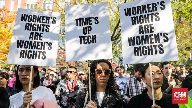 CEO Google Sundar Pichai telah menyuarakan dukungannya untuk pemogokan. (REUTERS/Jeenah Moon)